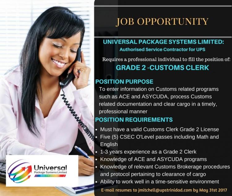 Grade 2 Customs Clerk
